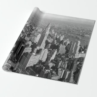 Vintage New York City Art Deco Skyscraper Wrapping Paper