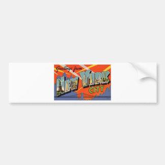 Vintage New York City Bumper Sticker