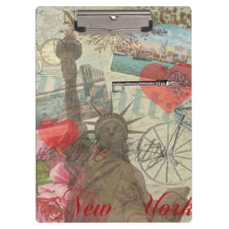 Vintage New York City Collage Clipboard