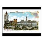 Vintage New York, City Hall and Park Postcard