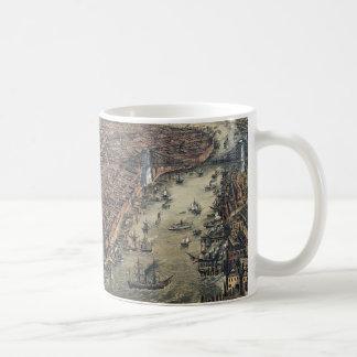 Vintage New York City, Manhattan, Brooklyn Bridge Coffee Mug
