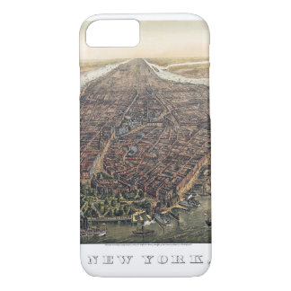 Vintage New York City, Manhattan, Brooklyn Bridge iPhone 8/7 Case