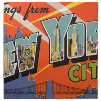 Vintage New York City Napkin
