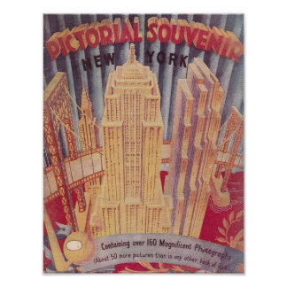 Vintage New York City Pictorial Souvenir Poster