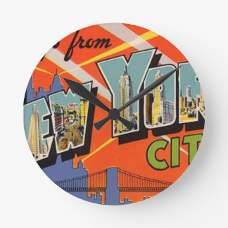 Vintage New York City Round Clock