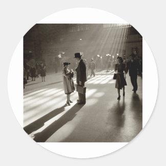 Vintage New York City Round Sticker