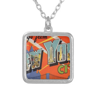Vintage New York City Silver Plated Necklace