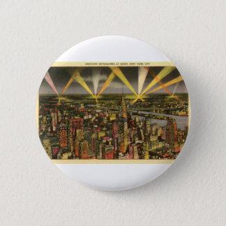 Vintage New York City Skyline 2 Inch Round Button