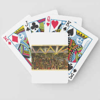 Vintage New York City Skyline Bicycle Playing Cards