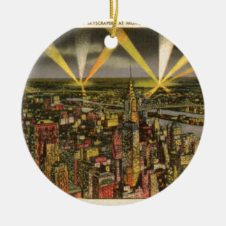 Vintage New York City Skyline Ceramic Ornament