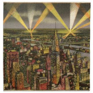 Vintage New York City Skyline Napkin