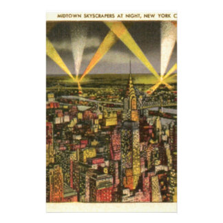 Vintage New York City Skyline Stationery