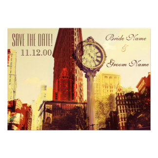 Vintage New York fifth avenue Personalized Invitations