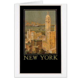 Vintage New York from Glasgow by the Anchor Line Card