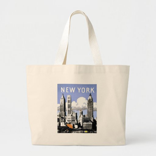 Vintage New York Jumbo Tote Bag
