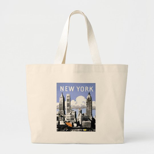 Vintage New York Large Tote Bag