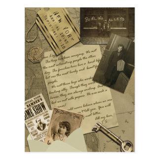 "Vintage ""New York"" Scrapbook Postcard"