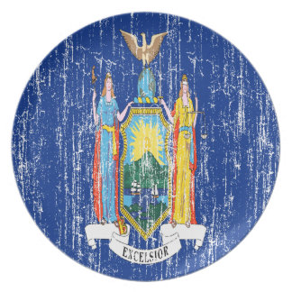 Vintage New York State Flag Plate