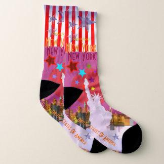 Vintage New York Travel Socks