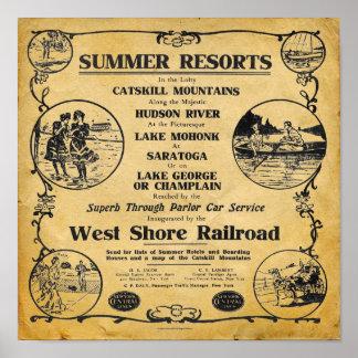 Vintage New York West Shore Railroad Print