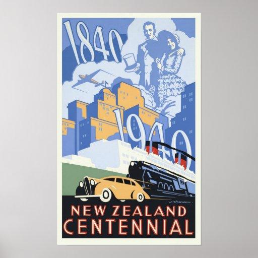 Vintage New Zealand Centennial Poster