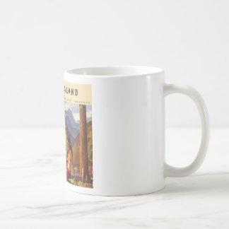 Vintage New Zealand Classic White Coffee Mug