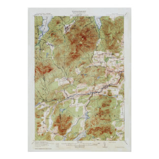 Vintage Newcomb New York Topographical Map Poster