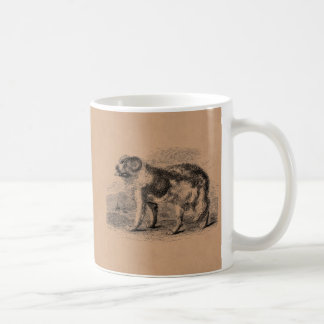 Vintage Newfoundland Dog  1800s Dogs Illustration Coffee Mug