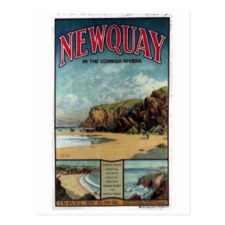Vintage Newquay in the Cornish Riviera Travel Postcard
