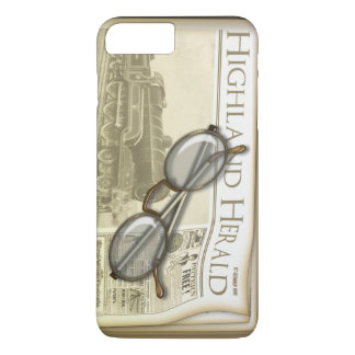 Vintage Newspaper and Spectacles iPhone 8 Plus/7 Plus Case