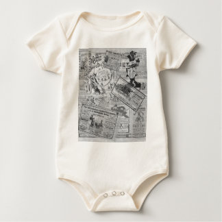 Vintage newspaper baby bodysuit