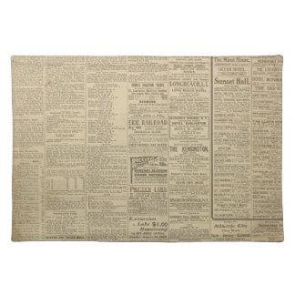 Vintage Newspaper background Placemat