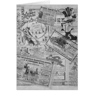Vintage newspaper card
