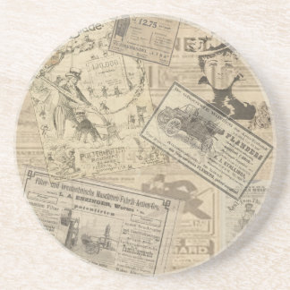 Vintage newspaper coaster