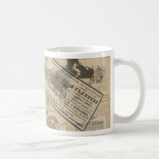 Vintage newspaper coffee mug