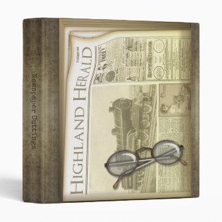 Vintage Newspaper Cuttings 3 Ring Binders
