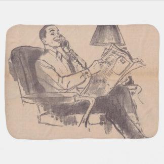 Vintage Newspaper Dad Baby Blanket