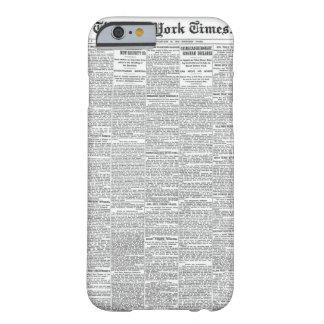 Vintage Newspaper iPhone 6/6s Case | Customisable
