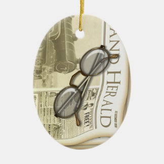Vintage Newspaper Personalized Ornament