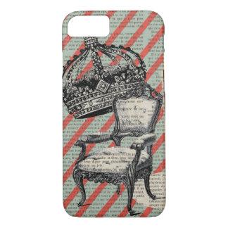 vintage newspaper victorian chair jubilee crown iPhone 8/7 case