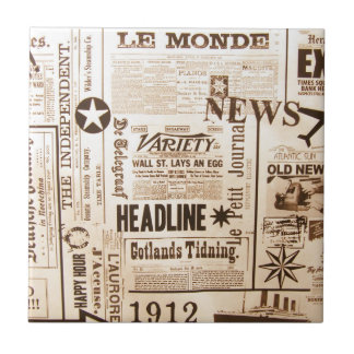 Vintage Newsprint Tile