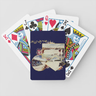 Vintage Niagara Falls Paintings Poker Deck