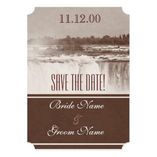 Vintage Niagara Falls Wedding Invite 5 Quot X 7 Quot Invitation Card Zazzle