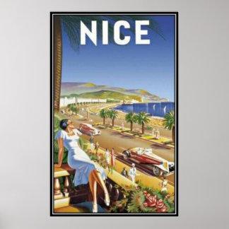 Vintage Nice, France - Poster