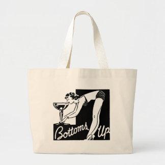 Vintage Nightclub Bar Girl on Tote Bag