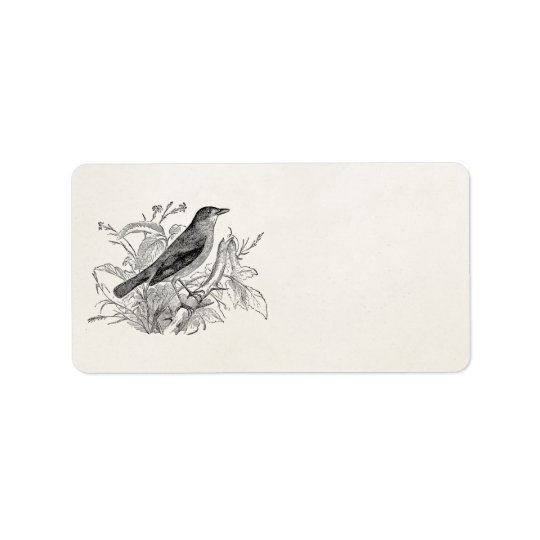 Vintage Nightingale Bird Personalized Retro Birds Label