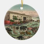 Vintage Noahs Ark Animals Illustration 1882 Christmas Tree Ornament