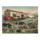 Vintage Noahs Ark Animals Illustration 1882 Postcard