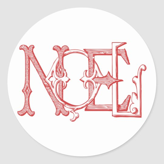 Vintage Noel Holiday Sticker