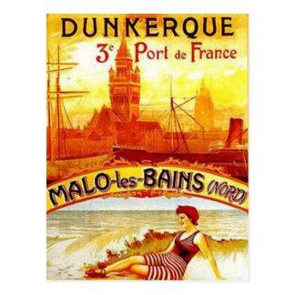 Vintage Nord-Pas-de-Calais, Dunkerque , France - Postcard